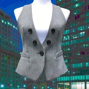 Pinstriped Racerback Dressy Vest Stretch Pockets